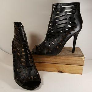Charlotte Russe Black Ankle Boots Women Sz 8